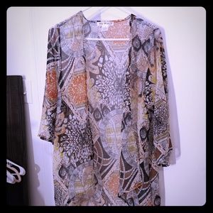 Tops - Sheer long cover up